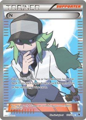Pokemon Trainer N Super Rare Holo Full Art 101 Noble Victories by Pokémon