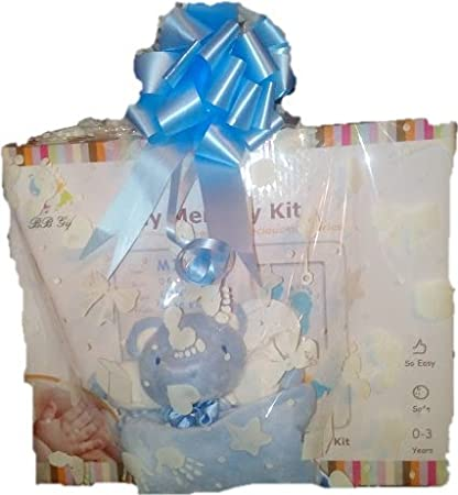 Blue Baby Casting kit to Personalise /& Teddy Comforter Set