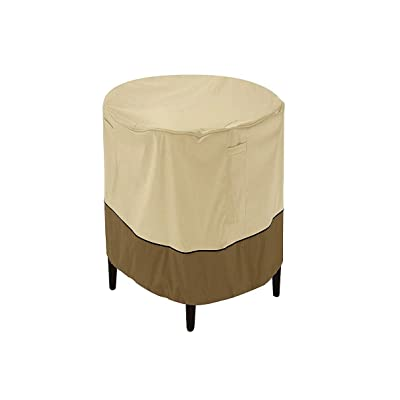 Classic Accessories Veranda Water-Resistant 24 Inch Round Patio Ottoman/Coffee Table Cover : Garden & Outdoor