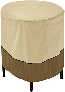 Classic Accessories Veranda Round Patio Ottoman/Coffee Table Cover, Small with Veranda Cover
