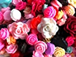 MIXED ROSE CABOCHONS Assorted Flat Ba...