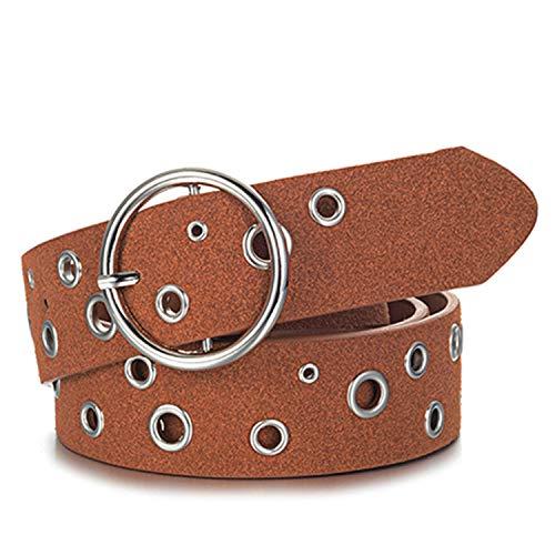 per jeans Cinturino cinturini Cognac pelle per in accessori Donna Esthesis nRHF7qvR