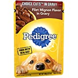 Pedigree Choice Cuts In Gravy Filet Mignon Flavor Adult Wet Dog Food, (16) 3.5 Oz. Pouches For Sale