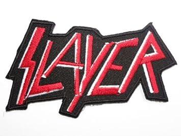 amazon com slayer logo iron on band patch 3 5 9cm x 2 5cm by mnc shop rh amazon com Slipknot Band Logo Megadeth Band Logo