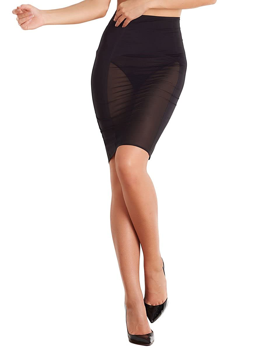 Maison Close 608049 Womens Belle De Jour Black Solid Colour Light Control Skirt