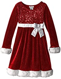 Big Girls Little Miss Holiday Dress, Red, 10
