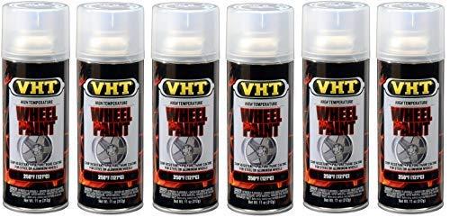 VHT  ESP184007 Clear Coat Wheel Paint Can - 11 oz. (6)