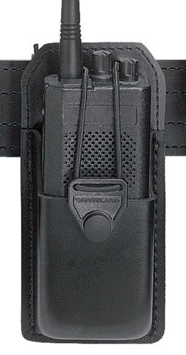 (Safariland 762 Radio Carrier with Formed Pouch and Swivel, Black, Plain)