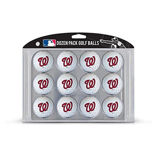 Team Golf MLB Washington Nationals Dozen Regulation Size Golf Balls, 12 Pack, Full Color Durable Team Imprint