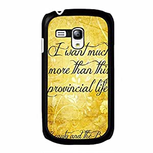 Samsung Galaxy S3 Mini Golden Quotes Beauty And The Beast Phone Case Cover Beauty And The Beast Stylish