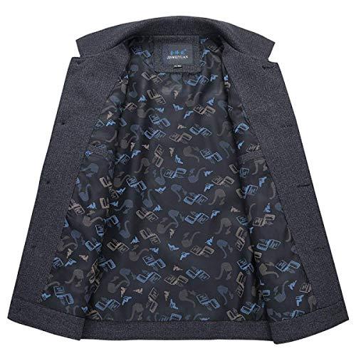 Slim Giacca Grey Ragazzi Blazer Da Warm Classiche Autunno Mezza Derbe Inverno E Laisla Parka Trench Stagione Fashion Coat Fit Uomo j45ALR