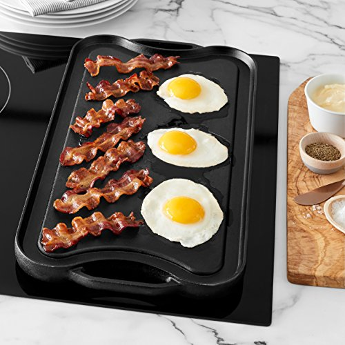 AmazonBasics Pre-Seasoned Cast Iron Reversible Grill/Griddle -(5204) by AmazonBasics (Image #2)