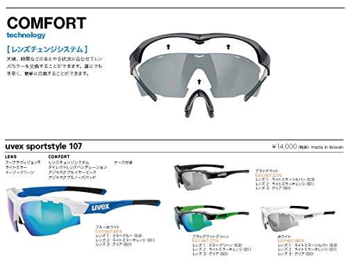 UVEX lunettes de soleil de sport style 107 Black Mat Green
