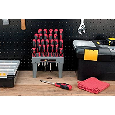 Performance Tool W1726 26-Piece Screwdriver Set with Rack: Automotive