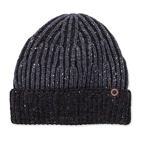 UGG Two Tone Rub Cuff Hat Men |Graphite Heather