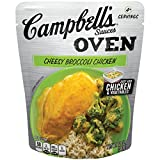 chicken and broccoli - Campbell's Oven Sauces, Cheesy Broccoli Chicken, 12 Ounce (Pack of 6) (Packaging May Vary)