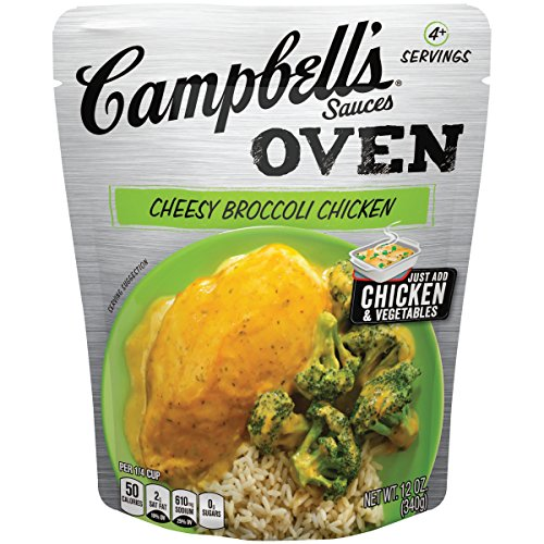 Campbell's Oven Sauces Cheesy Broccoli Chicken, 12 oz. (Pack of 6)