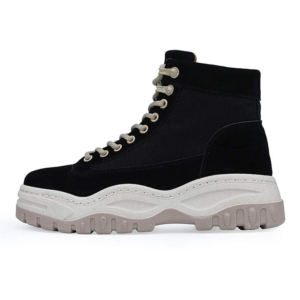 BND-scarpe , Stivali Invernali Invernali Invernali da Uomo Casual Tacco Spesso High Top Calzature per Il Tempo Libero Durevole; resistere all'Usura (Colore   Nero, Dimensione   44 EU) 0c17cc