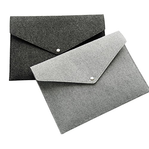 Felt Envelopes - MyLifeUNIT Felt File Folders of A4 Size, Envelope Folders with Snap Button, Set of 2