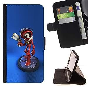 Momo Phone Case / Flip Funda de Cuero Case Cover - Caractère Laser Gun Game - Samsung Galaxy S4 Mini i9190