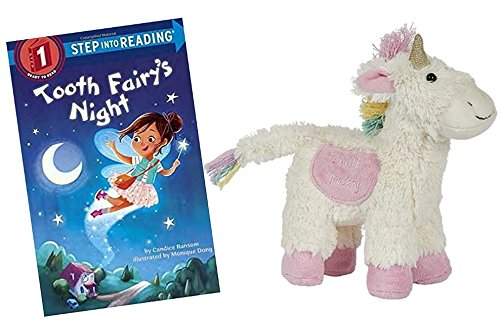 - Hug the Belly Unicorn Stuffed Animal Tooth Fairy Pillow for Girls by Maison Chic with Tooth Fairy's Night Book Bundle Gift Set
