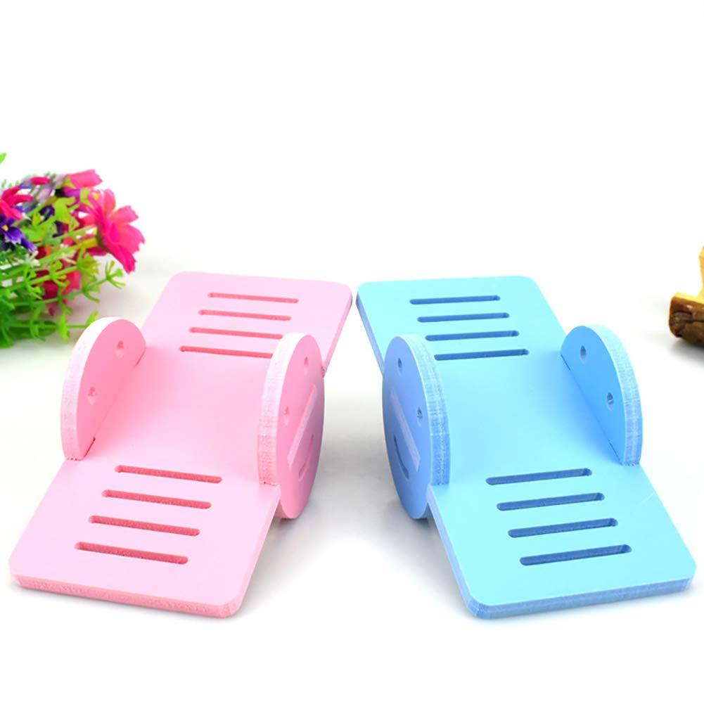 Pink Romote Criceto Giocattoli di Legno Divertimento Altalena Giocattolo Gioco Giocattolo da Masticare per Il Mouse e del Mouse Criceto Nano Parco Giochi Animali per Accessori