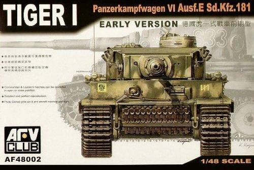 Tiger I Panzerkampfwagen VI Ausf E SdKfz 181 Tank Early Version 1-48 by 1-48 AFV Club by AFV Club