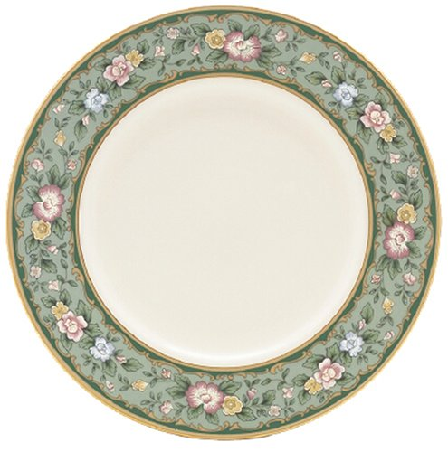 Lenox Spring Vista Gold Banded Ivory China 9 Accent Plate (Vista Spring Fine Dinnerware)