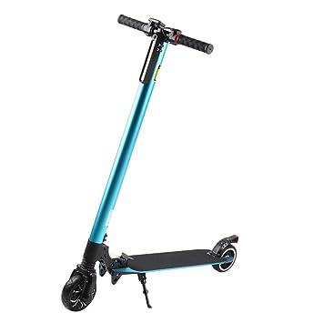 blackpoolal eléctrico Scooter eléctrico Patinete con 6000 mAh batería plegable Luz eléctrico – Patinete (para jóvenes y adultos máximo velocidad hasta ...
