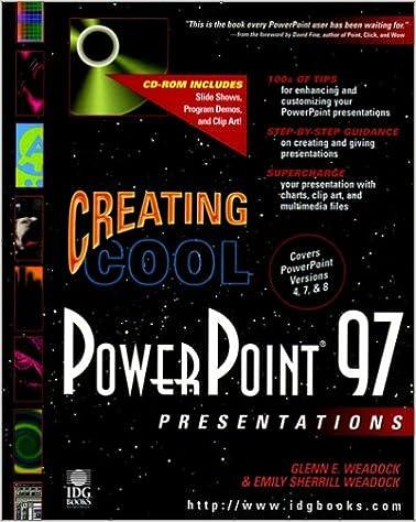 creating cool powerpoint 97 presentations glenn e weadock emily
