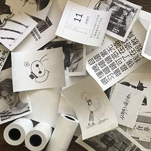 57X30MM Durable Printable Sticker Papier Direct Thermal Paper Selbstklebend f/ür PAPERANG Mini Photo Printer Zubeh/ör Blau