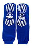 XXXL Blue Slip Stop Non-Skid Slipper Socks (12 Pairs) (Extra Wide Bariatric)
