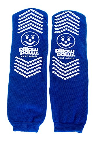 Slip Resistant Single Print XXXL Bariatric Size Socks Royal Blue Color 12 Pair Per ()