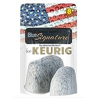 8 Keurig water filter cartridges, Premium universal fit keurig replacement parts for keurig coffee makers (NOT CUISINART), use as keurig filter replacement compatible for keurig 2 0 water filter (8)
