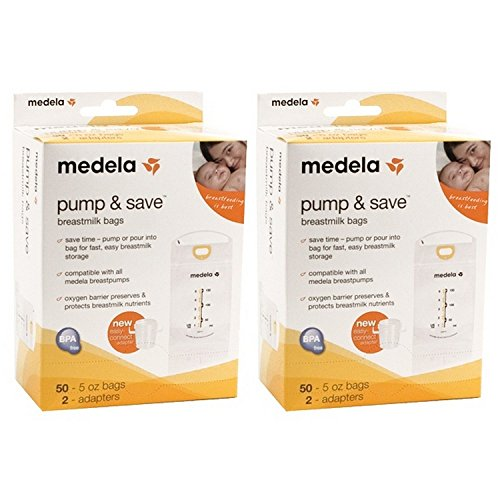 Medela Pump & Save Breastmilk Bags – 50 Pack (Set of 2)