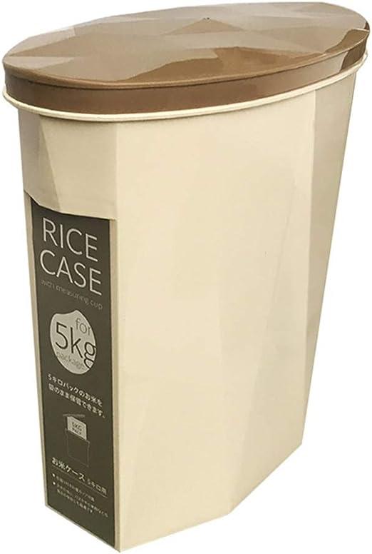 Jlxl Caja de Comida para Perro, Resina Mascota Comida Envase Hermético Impermeable Contenedor para Pienso Tapa del Tirón (Color : Marrón): Amazon.es: Hogar