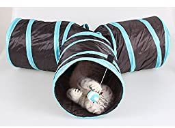 INOlite Foldable Pet Tunnels for Dog Cat Toy With Ball Play Fun 3-way