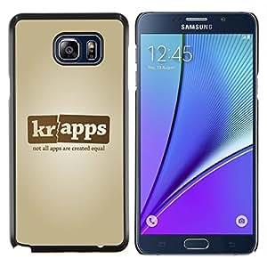 Smartphone App Nombre de la empresa- Metal de aluminio y de plástico duro Caja del teléfono - Negro - Samsung Galaxy Note5 / N920