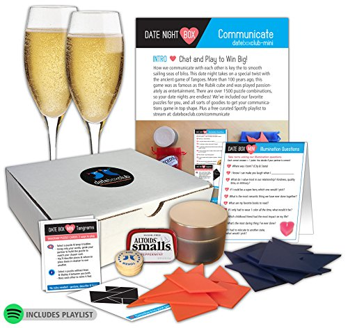 "Date Night Box- Our ""Tango Together"" is all about communicating in a fun way with your partner. This creative date night for couples is ready to open and enjoy any - Fun Date Ideas Valentine"
