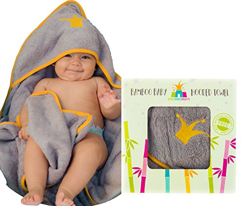 Hooded Baby Towel for Bath & Shower-100% Bamboo Baby Hooded Towel, with Bonus Washcloth for Boy or Girl, Newborn/Toddler | Baby Hooded Towel-Soft, Absorbent & Hypoallergenic for Sensitive Skin