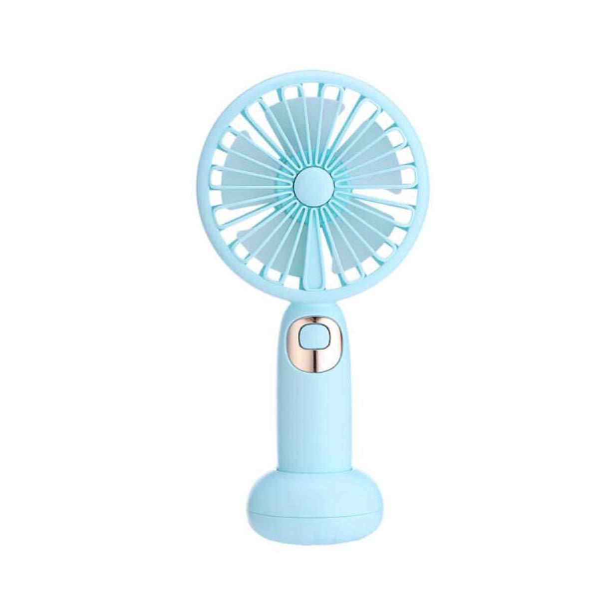 Qiyuezhuangshi Speakers, Audio Small Fan Combo Hand-held Fan, Pink Hong Liang (Color : Blue)