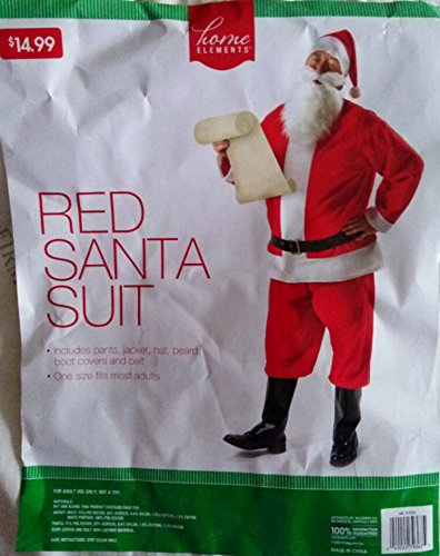 Red Santa Suit, One Size Fits - Santa Suits