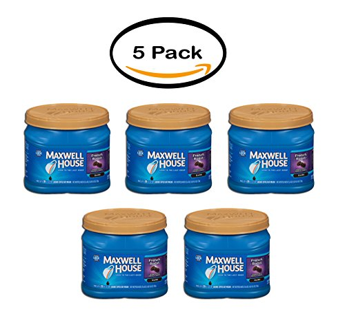 PACK OF 5 - Maxwell House French Roast Ground Coffee 25.6 oz. - French Roast House Maxwell Coffee