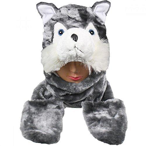 Cute Squirtle Costume (Husky_(US Seller)New Plush Cartoon Hat Long Warm Full Hoodie Hat)