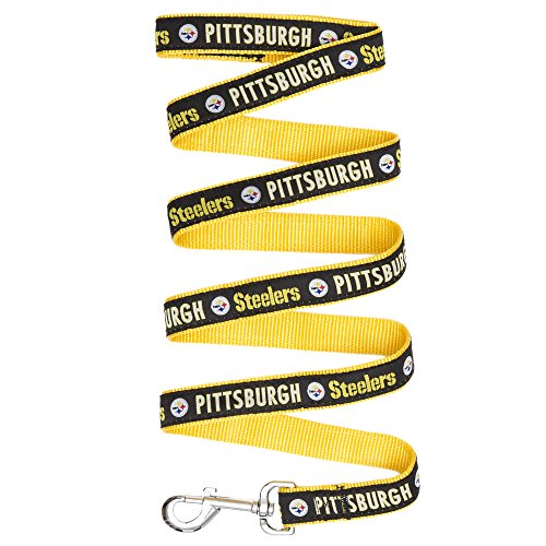 Image of Pets First Pittsburgh Steelers Pet Leash, Small