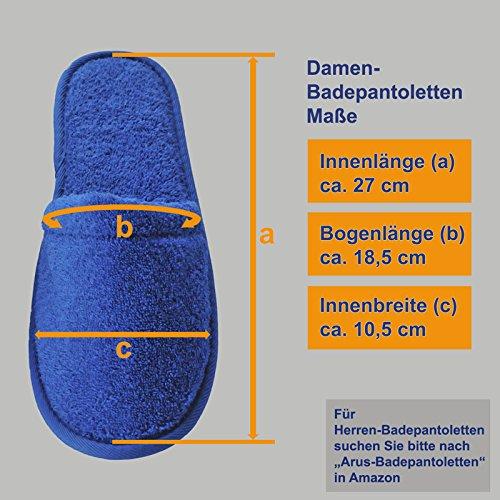 Bain Mules en Pantoufles 100 de Resistance Arus amp; Eponge Femmes Coton Chaussons Lilas Eponge Confort de 0dtX5wq
