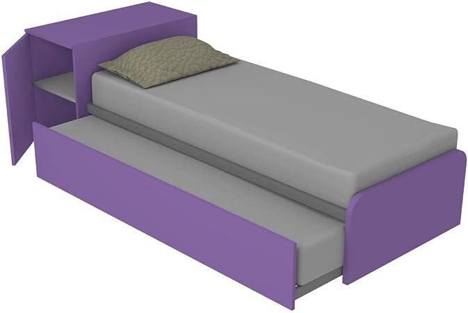 Mueble dormitorio 964RK cama con cabecero contenedor y ...