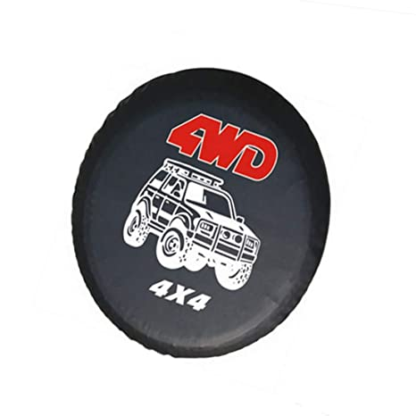 1 funda protectora para neumático de coche de 4 WD para rueda de repuesto, color