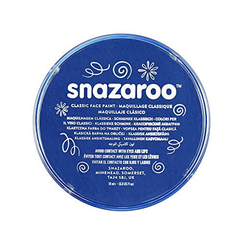 Snazaroo 1118344 Classic Face Paint, 18ml, Royal - Remover Paint 5 Latex