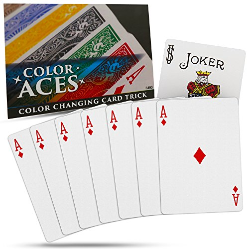 Magic Makers Color Aces Card Magic Trick with Magic Training